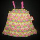 NWT Kidgets Baby Girl Yellow Floral Hibiscus Sleeveless Dress 18 Monrhs