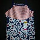 NWT Jumping Beans Girls Sleeveles 4th of July Patriotic Spagheti Strap Shirt 4