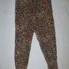 H&M Womens Leopard Animal Print Viscose Harem Lounge Pants Large