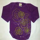 Boutique Tomat Baby Girls Purple Long Sleeve Flower Bodysuit 6 Months