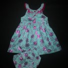 Penelope Mack Baby Girls Turquoise Pink Floral Sleeveless Easter Dress 18 Months