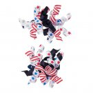 NWT Gymboree Red White & Cute 4th of July Curlies Girls Curly Ribbon Hair Clips