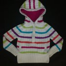 Tommy Hilfiger Hooded Striped Pullover Girls Cable Knit Sweater Size 6
