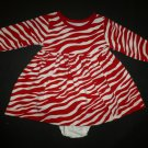 Kelly Kids Baby Girl Red Zebra Striped Long Sleeve Dress Bloomers 6 Months