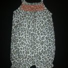 NWOT Carters Baby Girl Sleeveless Animal Print Bubble Romper Sunsuit 6 Months