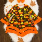 NEW Boutique Girls Pumpkin Girls Long Sleeve Ruffle Dress