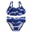 NWT Gymboree Americana Tie Dye Girls Blue Flounce Bikini Swimsuit Set