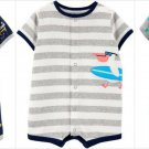 NWT Carters Monster Trucks Surf Pelican Baby Boys Short Sleeve Romper Jumpsuit