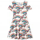 NWT The Childrens Place Unicorn Girls Cold Shoulder Dress 5-6 7-8 10-12 14 16