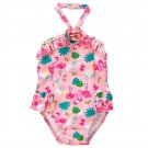 NWT Gymboree Flamingo Girls Pink Ruffle One Piece Swimsuit Bathing Suit 2T 4T 5T