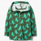 NWT Gymboree Hello Fall Dinosaur Boys Green Hoodie Hooded Sweatshirt Sweater