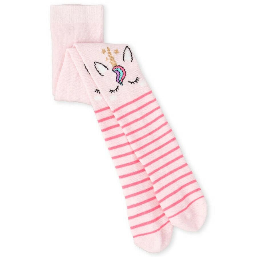 NWT The Children's Place Unicorn Girls Pink Striped Tights 6-12 12-24 2T 3T 4T