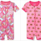 NWT The Childrens Place Mommys Monkey Girls Pink Short Sleeve Stretchie Pajamas