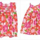 NWT Gymboree Tiny Tropics Baby Girl Pink Floral Kimono Wrap Dress Romper Sunsuit