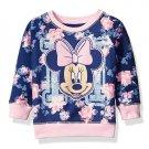NWT Disney Minnie Mouse Floral Blue Long Sleeve Sweatshirt 2T 3T