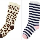 NWT Gymboree Uniform Shop Leopard Girls Knee High Socks S M L 11-12 13-2 3+