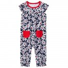 NWT Gymboree Spring Forward Floral Daisy Baby Girls Romper Sunsuit Jumpsuit
