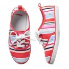 NWT Gymboree Eiffel Flowers Striped Girls Sneakers Shoes 10 11 12 13 1 2 3
