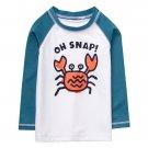NWT Gymboree Getaway Shop Oh Snap! Crab Boys Long Sleeve Rash Guard Swim Shirt
