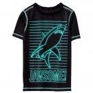 NWT Gymboree Shark Jawsome Boys Black Short Sleeve Rashguard Swim Shirt