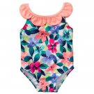 NWT Gymboree Spring Vacation Girls Floral Flower Swimsuit Bathing Suit 4T 5T