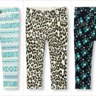 NWT The Childrens Place Girls Fair Isle Floral Blue Knit Jeggings 3T 4T 5T
