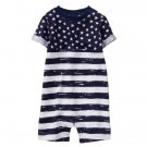 NWT Gymboree Patriotic Stars & Stripes Baby Boys 4th of July Romper Sunsuit