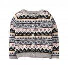 NWT Gymboree Winter Star Fair Isle Girls Gray Cardigan Sweater 2T 3T 4T 5T