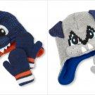 NWT The Children's Place Baby Boys Dinosaur Dog Hat Mittens Set 6-12 Months