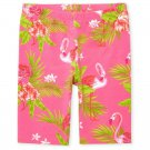 NWT The Childrens Place Flamingo Girls Pink Bike Shorts