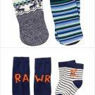 NWT Gymboree Baby Buddies Dinosaur Mulberry & Pine Moose Boys Socks