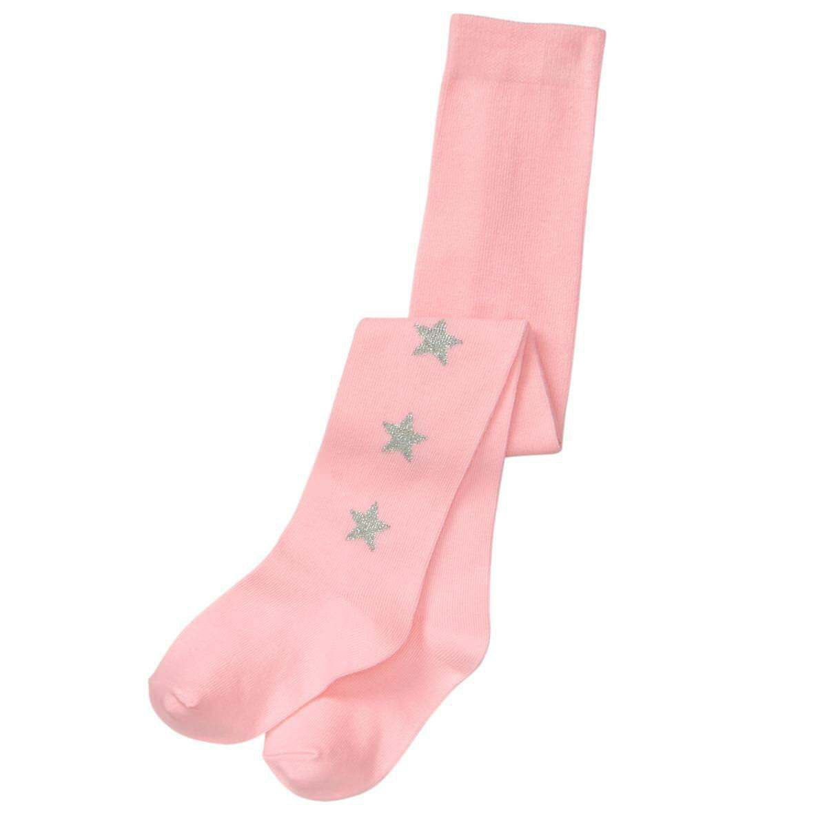 NWT Gymboree Winter Star Pink Sparkle Silver Star Baby Toddler Girls Tights