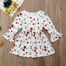 NWT Strawberry Girls White Ruffle Long Sleeve Dress 2T 3T 4T5T