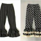 NEW Boutique Girls Black Ruffle Pants Leggings