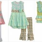 NEW Boutique Girls Sleeveless Princess Ruffle Tunic Dress & Leggings Outfit Set