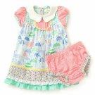 NWT Matilda Jane Raindrops Baby Girls Dress & Diaper Cover 6-12 12-18 18-24 M