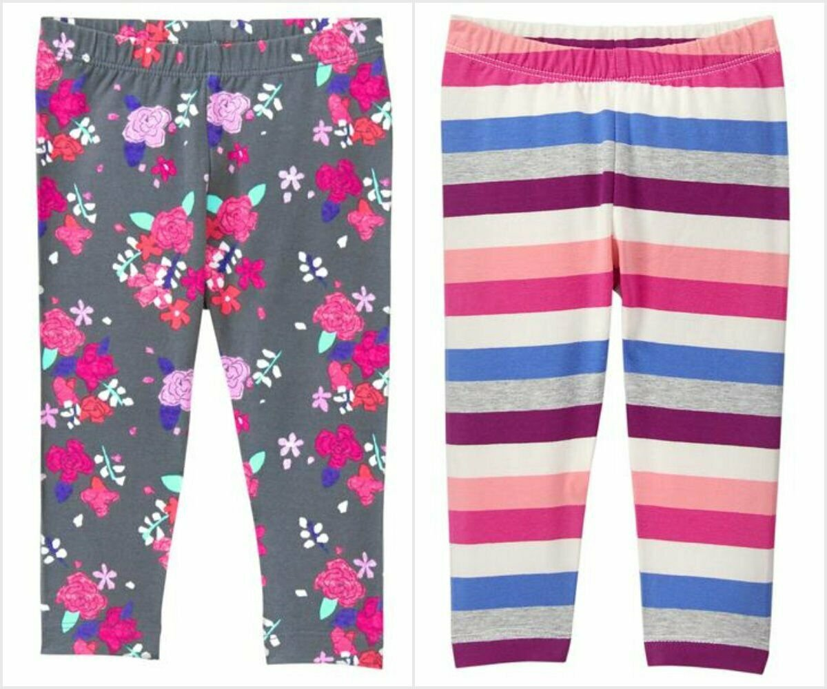 NWT Gymboree Girls Mix N Match Floral Striped Leggings 3T 4T 5T