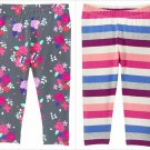 NWT Gymboree Girls Mix N Match Floral Striped Leggings 3T 4T 5T