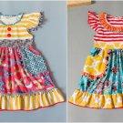 NEW Boutique ABC Alphabet Floral Girls Sleeveless Ruffle Dress 5-6 6-7 7-8