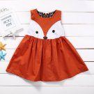 NWT Girls Orange Fox Sleeveless Dress 18 M 2T 3T 4T