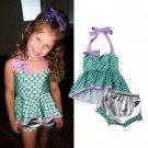 NEW Mermaid Girls Turquoise Ruffle Tankini Bikini Swimsuit