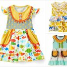 NEW Tutu & Lulu Boutique Girls Elephant Jungle Fish Short Sleeve Ruffle Dress