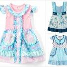 NEW Tutu & Lulu Boutique Girls Sheep Deer Geometric Short Sleeve Ruffle Dress