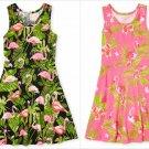 NWT The Childrens Place Flamingo Racerback Girls Sleeveless Black Dress