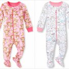 NWT The Childrens Place Monkey Girls Stretchie Footed Sleeper Pajamas 2 3 4 5