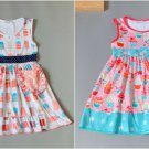 NEW Boutique Ice Cream Popsicle Cupcake Girls Sleeveless Ruffle Dress