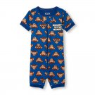 NWT The Childrens Place Monkey Boys Short Sleeve Stretchie Romper Pajamas