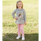 NWT Mud Pie Girls Puppy Dog Applique Tunic Leggings Outfit Set 2T 3T 4T 5T