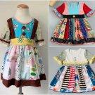 NEW Girls Boutique Multi-Print Short Sleeve Ruffle Dress 5-6 6-7 7-8
