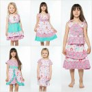 NWT Jelly The Pug Mermaid Pink Bri Alex Tina Priscilla Rosette Girl Ruffle Dress